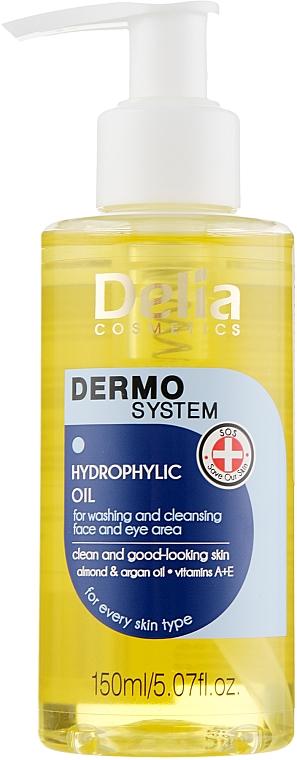 Aceite limpiador hidrofílico para rostro y contorno de ojos con aceites de argán y almendra - Dermo System Delia