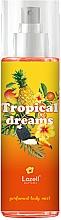 Perfumería y cosmética Lazell Tropical Dreams - Bruma corporal perfumada con aroma a frutas exóticas, jazmín e hibisco