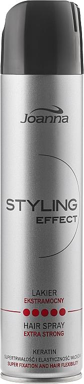 Laca para cabello con queratina, fijación flexible extra fuerte - Joanna Styling Effect Hair Spray Extra Strong