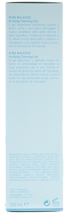 Gel espumoso de limpieza facial - Declare Purifying Cleansing Gel — imagen N2