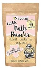 """Perfumería y cosmética Polvo de baño """"Biscocho de frambuesa dulce"""" con manteca de karité - Nacomi Sweet Raspberry Cupcake Bath Powder"""
