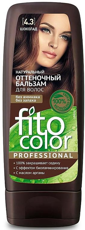 Bálsamo de tinte natural para cabello con aceite de argán, sin amoníaco - Fito Cosmetic FitoColor Professional