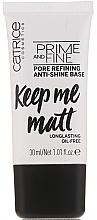 Perfumería y cosmética Base de maquillaje niveladora - Catrice Prime And Fine Pore Refining Anti-Shine