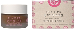 Perfumería y cosmética Exfoliante labial de azúcar morena orgánica y aceite de coco - Whamisa Organic Flowers Deep Rich Lip Scrub