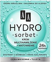 Perfumería y cosmética Crema facial hidratante con extracto de bambú y ácido azelaico - AA Hydro Sorbet Moisturising & Mattifying Cream