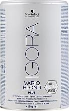 Perfumería y cosmética Blanqueador de cabello con efecto antiamarillo - Schwarzkopf Professional Igora Vario Blond Plus