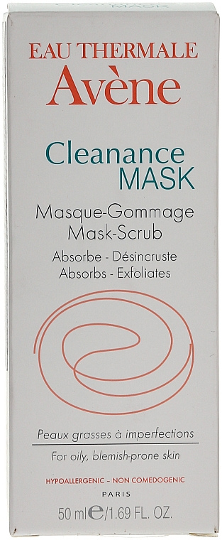 Mascarilla facial exfoliante con arcilla blanca y agua termal - Avene Exfoliating Absorbing Cleanance Mask-Scrub