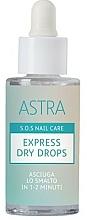 Perfumería y cosmética Gotas secantes de uñas - Astra Make-up Sos Nails Care Express Dry Drops