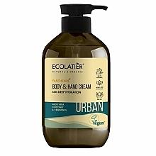 Perfumería y cosmética Crema natural para manos y cuerpo con aloe vera, coco y pantenol - Ecolatier Urban Moisturizing Body & Hand Cream