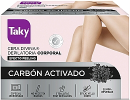 Perfumería y cosmética Cera depilatoria con carbón activado, efecto peeling - Taky Activated Carbon Body Depilatory Wax