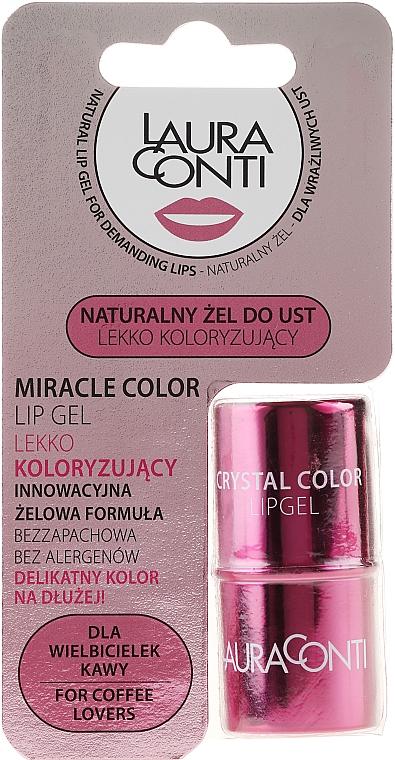 Gel labial en color rosa con manteca de mango - Laura Conti Miracle Color Lip Gel