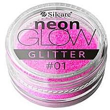 Perfumería y cosmética Purpurina para uñas - Silcare Brokat Neon Glow
