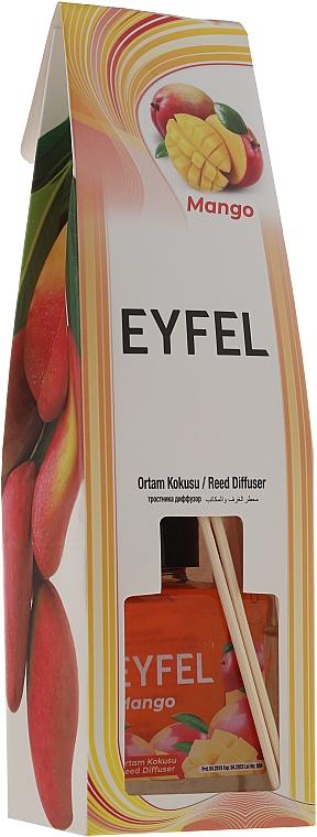 Ambientador Mikado con aroma a mango - Eyfel Perfume Reed Diffuser Mango