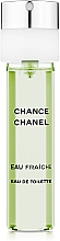 Chanel Chance Eau Fraiche - Set de racarga (eau de toilette/3x20ml) — imagen N2
