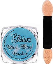 Perfumería y cosmética Polvo para uñas - Elisium Blue Bling Powder