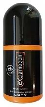 Perfumería y cosmética Coty Ex'cla-ma'tion Wild Musk - Desodorante antitranspirante roll-on perfumado