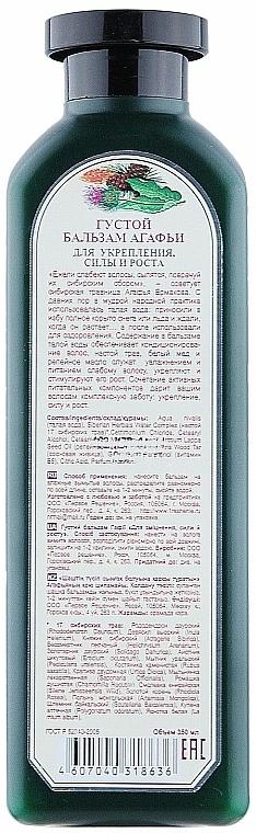 Acondicionador con aceite de bardana, agua glaciar y 17 hierbas sebirianas - Las recetas de la abuela Agafia, Fortalecedor — imagen N2