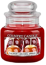 Perfumería y cosmética Vela aromática en tarro - Country Candle Salted Caramel Apples
