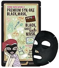 Perfumería y cosmética Mascarilla facial de tejido negra antiarrugas con péptido - Dewytree Premium Synake Black Sheet Mask