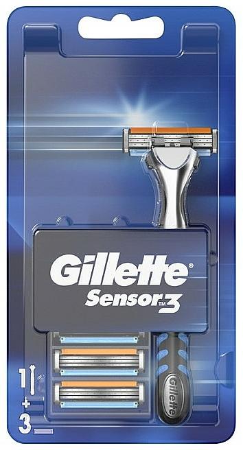 Maquinilla de afeitar con 2 recambios - Gillette Sensor 3