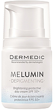 Perfumería y cosmética Crema facial con aceite de coco, vitamina C y E - Dermedic MeLumin Depigmenting Cream SPF 50+