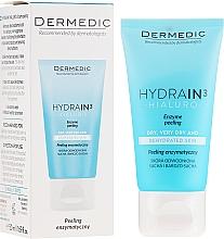 Perfumería y cosmética Exfoliante enzimático para rostro, cuello y escote con ácido AHA - Dermedic Hydrain3 Hialuro Peel