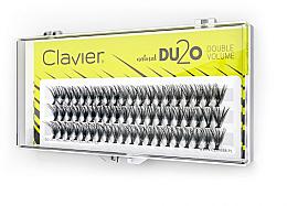 Perfumería y cosmética Pestañas postizas individuales de doble volumen, 9mm - Clavier DU2O Double Volume