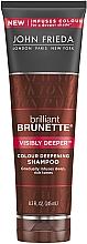 Perfumería y cosmética Champú realzador de tonos castaños oscuros con cacao - John Frieda Brilliant Brunette Visibly Deeper Shampoo