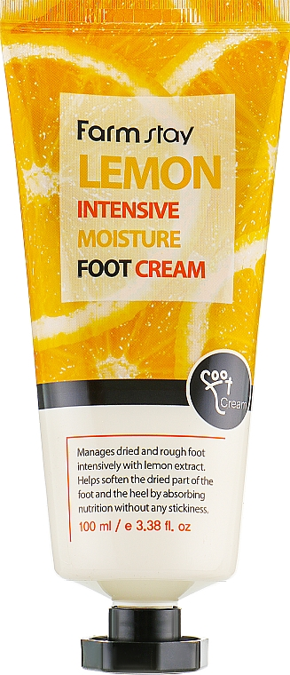 Crema intensiva para pies con extracto de limón - FarmStay Lemon Intensive Moisture Foot Cream