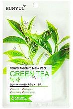Perfumería y cosmética Mascarilla facial natural de tejido con extracto de té verde - Eunyul Natural Moisture Mask Pack Green Tea