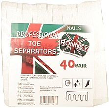 Perfumería y cosmética Separador de pedicura, 80uds. - Ronney Professional Toe Separators