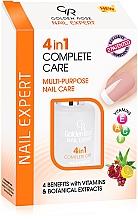 Perfumería y cosmética Tratamiento para cuidado de uñas 4 en 1 con vitamínas y extractos botánicos - Golden Rose Nail Expert 4 in 1 Complete Care