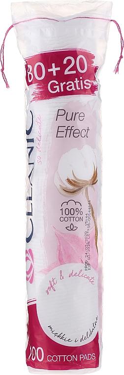 Discos de algodón desmaquillantes pure effect 80+20 uds. - Cleanic Face Care Cotton Pads