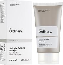 Perfumería y cosmética Mascarilla facial antiimperfecciones con 2% de ácido salicílico - The Ordinary Salicylic Acid 2% Masque