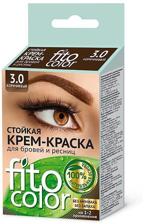 Fito cosmetic FitoColor - Tinte en crema para pestañas y cejas, sin amoníaco (oxidante incluido)