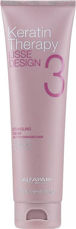 Crema desenredante protectora con queratina - Alfaparf Lisse Design Keratin Therapy Detangling Cream for Women