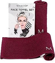 """Perfumería y cosmética Set toallas para rostro, borgoña """"MakeTravel"""" - Makeup Face Towel Set"""