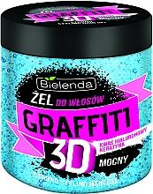 Perfumería y cosmética Gel de fijación fuerte con ácido hialurónico y queratina - Bielenda Graffiti 3D Niebieski