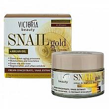 Perfumería y cosmética Crema de día con baba de caracol y aceite de argán - Victoria Beauty Snail Gold Argan Oil Day Cream