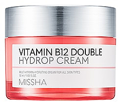 Perfumería y cosmética Crema facial hidratante con vitamina B12 - Missha Vitamin B12 Double Hydrop Cream