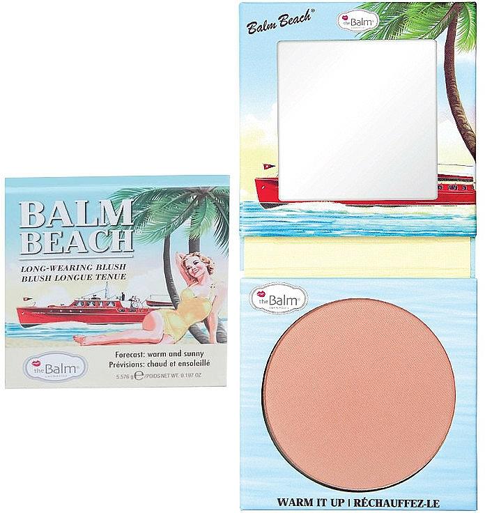 Colorete facial compacto de larga duración - theBalm Balm Beach Blush