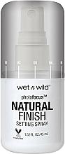 Perfumería y cosmética Spray fijador de maquilalje hidratante con aloe vera - Wet N Wild Photofocus Natural Finish Setting Spray