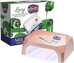 Perfumería y cosmética Lámpara CCFL+LED para manicura, marrón - Ronney Profesional Lucy CCFL + LED 36W (GY-LCL-021) Lamp