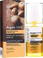 Perfumería y cosmética Aceite para cabello de argán y queratina - Dr. Sante Argan Hair