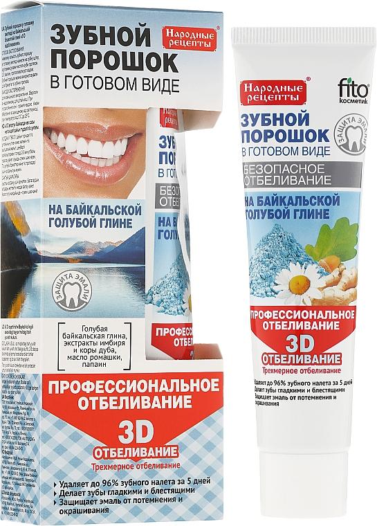 Polvo dental para blanqueamiento profesional de arcilla azul 3D - Fito Cosmetic, recetas populares