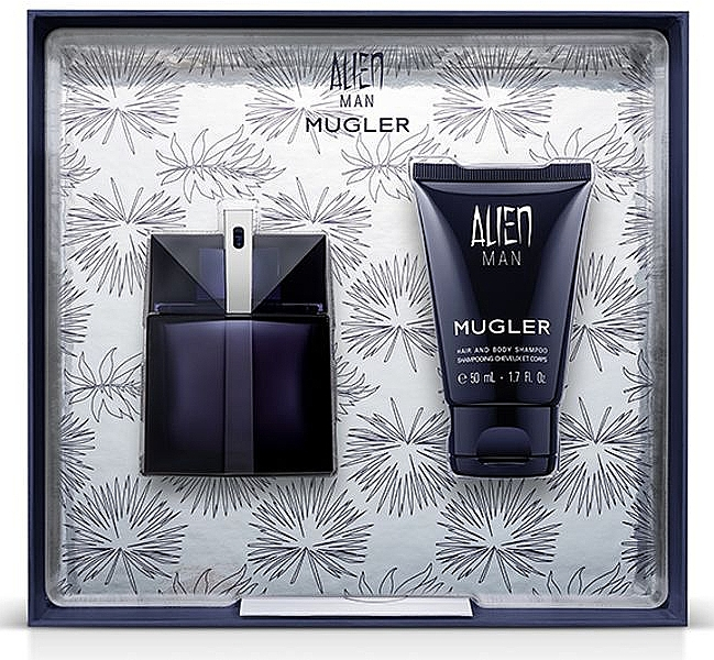 Mugler Alien Man Gift Set - Set (eau de toilette/50ml + champú para cuerpo y cabello/50ml)