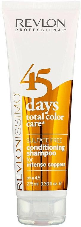 Champú acondicionador 2en1 para cabello cobrizo teñido - Revlon Professional Revlonissimo 45 Days Intense Coppers 2in1