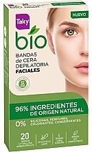 Perfumería y cosmética Bandas de cera depilatoria faciales con ingredientes naturales - Taky Bio Natural 0% Face Wax Strips