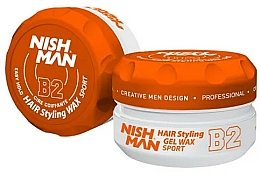 Perfumería y cosmética Cera texturizante de cabello, fijación firme - Nishman Hair Styling Gel Wax B2 Sport