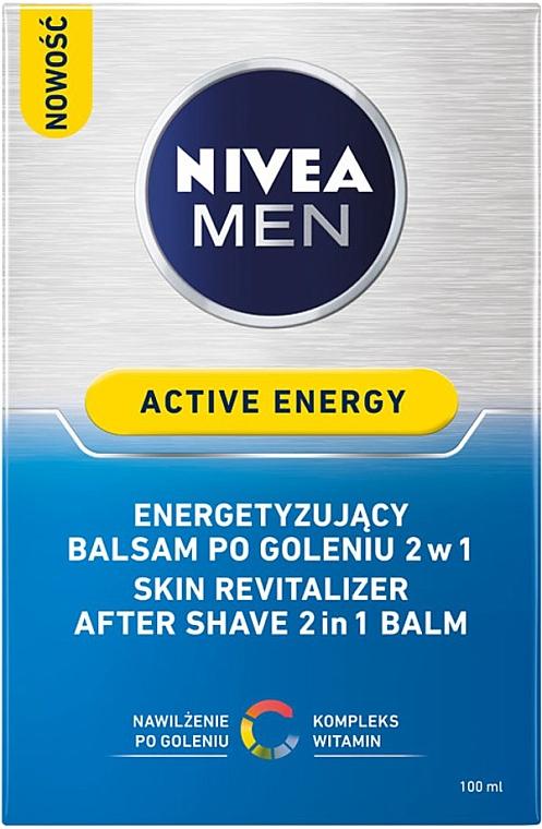Bálsamo aftershave revitalizante 2en1 - Nivea For Men Active Energy Skin Revitalizer After Shave Balm — imagen N3